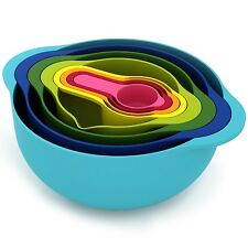 MyKitchen Compact Nest 8 Mixing Bowl Set Multi-Colour