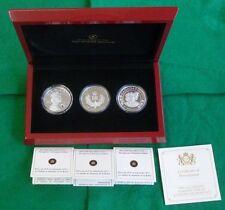 2012 Canada Silver Proof 3-Coin Set QEII Diamond Jubilee With Swarovski Crystal
