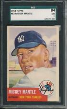 Mickey Mantle 1953 Topps # 82 SGC 84 7 !! Clean as PSA or better