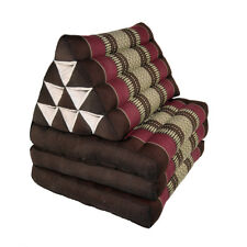 Thai Three Fold Triangular Cushion - Maroon (DM19)