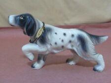 Vintage Porcelain Figurine~Irish Setter Dog~Hand Painted Figure