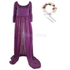 Umstandskleid Schwangerschaftskleid Lang Maxi Fotografie Kleid + Stirnband