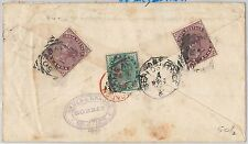 52352 - INDIA - POSTAL STATIONERY COVER added stamps to ARGENTINA 1898  SEA POST