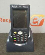 Follett Falcon 4220 Portable Data Color Laser Barcode Scanner Dock
