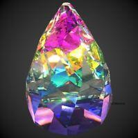 Swarovski Crystal Cone Rio Paperweight, Vintage Vitrail Rainbow Figurine, Office