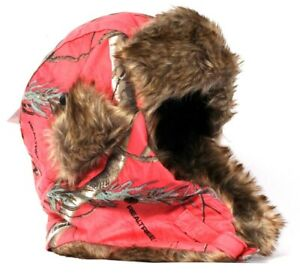 RealTree Xtra Colors Hot Shot Ladies Thinsulate Insulation SM Pink Trapper Hat