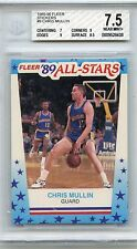 1989-90 FLEER STICKERS #9 CHRIS MULLIN STICKER, WARRIORS - BGS 7.5 (28438)