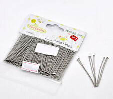 "1 Packet(300PCs) Well Sorted Silver Tone Head Pins 4.5cm(1-3/4"") SP0598"