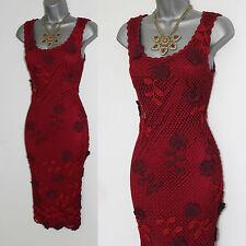 KAREN MILLEN 20s de colección estilo Gatsby 3D Flores Crochet Cóctel Vestido 1 UK8 10