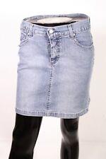 BJ4-6 Angels Jeans Rock blau Gr. 34 Bleistiftrock gerade Form Minirock Stretch