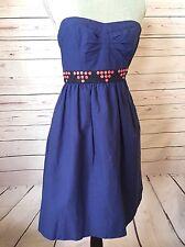 Anthropologie Floreat Blue Strapless Fairy Cake Dress Size 0 - Tulle Underskirt