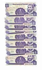 "LOT OF 8 NOTES x NICARAGUA 1 CENTAVO 1991 UNC. PREFIX "" AA"" (#725)"