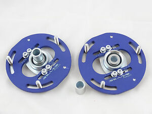 Camber Plates fit BMW 2002 E10 - 3D Drift for stock or coilover Domlager - blue