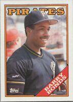 Barry Bonds 1988 Topps Baseball Card #450 Pittsburgh Pirates