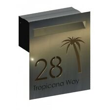 Tropicana Stainless Steel Letterbox - Brickin Mailbox or Fence Mount Letter Box