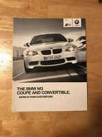E92 BMW M3 Brochure - Brand New - Uncirculated - Collectible!