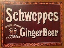 Tin Sign Vintage Schweppes Ginger Beer