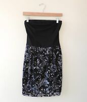 Women's Nordstrom Mimi Chica Black Floral Strapless Dress Size XS