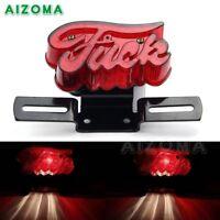 Rear Lamp Brake License Plate Tail Light Mount For Harley Cafe Racer Motorcycle