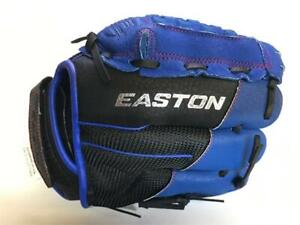 "Easton Z-Flex Youth LHT 10"" Pattern Baseball Glove A130634LHT Leather - Blue"