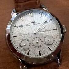 NEW MENS 20 JEWEL AUTOMATIC VAAN KONRAD CALENDARIUM WATCH SILVER EXCESSION MODEL