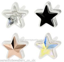 Hypoallergenic Blomdahl medical plastic crystal star stud earrings nickel free