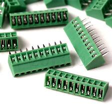 5Pcs 2.54mm Pitch 10 pin Straight Pin PCB Screw Terminal Block Connector CG