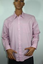 Christian Dior Monsieur Long Sleeve Button Down Shirt Size 17-34/35 Pink Solid