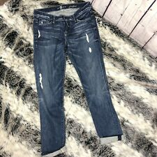 7 For all Mankind Womens Josefina Skinny Boyfriend Jeans 26 Vintage Carolina