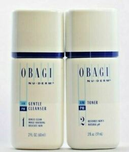 Obagi Gentle Cleanser & Toner 2 oz COMBO KIT TOTAL 4 OZ SEALED