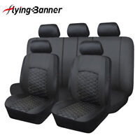 Universal Car Seat Covers faux Leather waterproof black for Honda Mazda Toyota