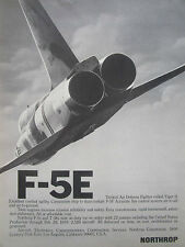 5/1976 PUB NORTHROP F-5E TIGER II INTERNATIONAL FIGHTER US AIR FORCE USAF AD