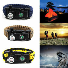 1PC LED Paracord Bracelet Emergency 20 in 1 Survival SOS Hot Camouflage
