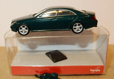 MICRO HERPA #033312 HO 1/87 MERCEDES-BENZ CLS-KLASSE VERT FONCE METAL IN BOX