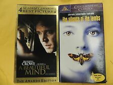 2 Best Picture Winners VHS movies: A Beautiful Mind, The Silence of the Lambs