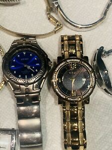 lot of 22 watches various brands  Seiko, Elgin, Guess, Fossil, Timex Plus