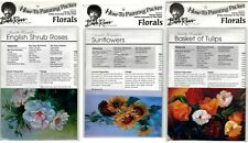BOB ROSS How-To Painting Packets - E. Shrub Roses, Sunflowers & Basket of Tulips