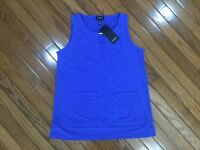 NWT Jones New York Women's Sleeveless Blouse Top Sz S MSRP $49