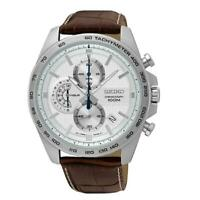 Seiko Chronograph Leather Strap Mens Watch SSB263P1