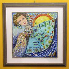 "MARIA MURGIA - ""Le vele"" - Olio su tela cm 70x70 + cornice + archivio"