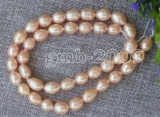 6-7mm Genuine Natural Pink rice Freshwater Pearl Loose Beads Strand 15""