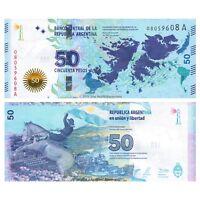 Argentina 50 Pesos 2015 Falkland Islands Commemorative P-362 UNC Series A