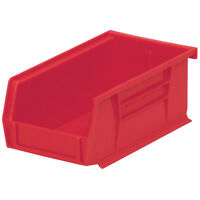 Akro-Mils AkroBin Stack & Hang Bin 7-3/8D x 4-1/8W x 3H Red  24 pack
