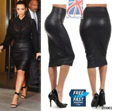 Faux Leather Stretch, Bodycon Petite Skirts for Women