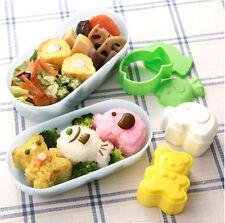 Animal Sushi Rice Mold 3 Pcs Bento Maker Bear Fish Mould Kitchen Seaweed Tools