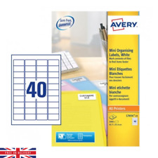 Avery Mini Organising Labels White For All Printers Pack of 1000 Labels
