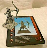 rackham confrontation drune kelt archer cynwall metal '03 d&d hunter w/card mini