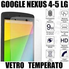 Pellicola  vetro TEMPERATO GOOGLE NEXUS LG 4-5 INFRANGIBILE ANTIGRAFFIO 0,26mm