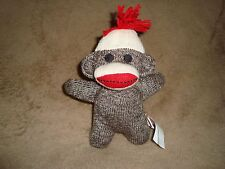 "Sock Monkey Schylling Plush 2012 7"" tall"