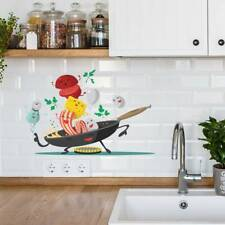 Cartoon Happy Pan Wall Sticker DIY Wall Mural Decoration Decal for Kitchen
